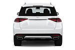 Straight rear view of 2020 Mercedes Benz GLE 350-d-4MATIC 5 Door SUV Rear View  stock images
