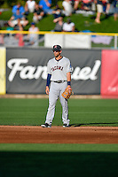 Tyler Smith (7) of the Tacoma Rainiers during the game against the Salt Lake Bees in Pacific Coast League action at Smith's Ballpark on July 23, 2016 in Salt Lake City, Utah. The Rainiers defeated the Bees 4-1. (Stephen Smith/Four Seam Images)