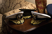 Military hats are seen outside of a meeting between President Barack Obama and the Joint Chiefs of Staff and other military commanders, at the White House in Washington, D.C. on January 4, 2017. <br /> Credit: Kevin Dietsch / Pool via CNP
