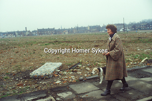 Liverpool Toxteth urban wasteland 1981.