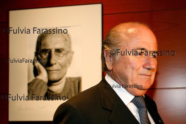 Milano Sepp Blatter alla Gazzetta dello sport,