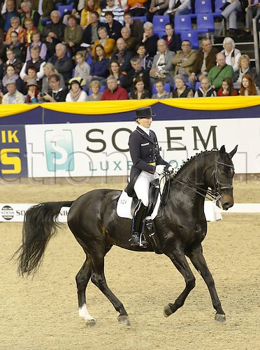20.10.2013 Hannover Germany.<br /> Anabel Balkenhol (GER) and Diamonds Forever in action during the German Classics Dressage Grand Prix. The 2013 German Classics International Horse Show