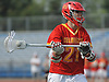 Michael O'Connell #21 of Chaminade carries downfield during the Nassau-Suffolk CHSAA varsity boys lacrosse Class AA final against St. Anthony's at Mitchel Athletic Complex on Tuesday, May 15, 2018. The game went to halftme tied 8-8 when a prolonged lightning storm forced a postponement.