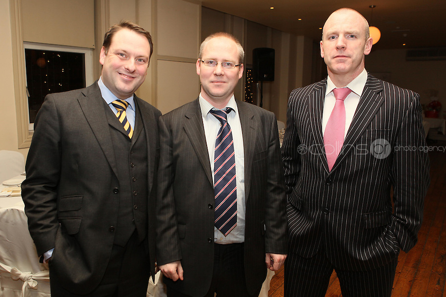 NO REPRO FEE. 23/11/2010. ICCL annual fundraising dinner. Pictured at Fallon and Byrnes, Dublin for the ICCL's fundraising dinner for legal practitioners were Eoin Lawlor, Tom Conlon and Garry Daily . Picture James Horan/Collins Photos