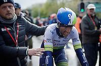 Michael Albasini (SUI/Orica-GreenEDGE) after finishing an unfortunate 2nd<br /> <br /> 102nd Li&egrave;ge-Bastogne-Li&egrave;ge 2016