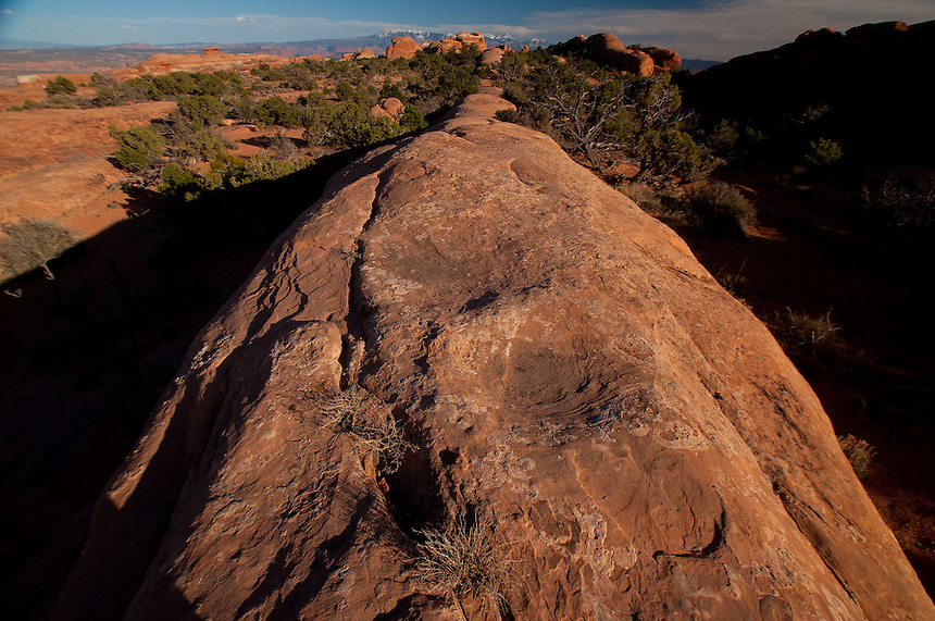 Rock Fin at Devils Garden, Arches National Park, Utah, US