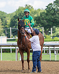 July 25, 2020: Three Outlaws, ridden by Ricardo Santana, Jr., trained by Rob Atras wins the 5th race  on Alfred G Vanderbilt  Day at Saratoga Race Course in Saratoga Springs, New York. Rob Simmons/Eclipse Sportswire/CSM