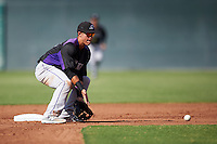 Colorado Rockies Jose Gomez (66) during an Instructional League game against the San Francisco Giants on October 8, 2016 at the Giants Baseball Complex in Scottsdale, Arizona.  (Mike Janes/Four Seam Images)