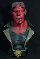 BNPS.co.uk (01202 558833)<br /> AdamPartridge/BNPS<br /> <br /> 'Hellboy II The Golden Army' bust<br /> <br /> A vast collection of 'weird and wonderful' memorabilia from a music venue that hosted early Beatles gigs has emerged for sale for close to £50,000.<br /> <br /> Lathom Hall in Liverpool was one of the best known clubs on the Merseybeat music scene in the late 1950s and early 1960s.<br /> <br /> Among their regular bands were the Beatles, although at that time they were known as the Silver Beets.<br /> <br /> Since those days the hall has adapted and is now an entertainment venue crammed full of pop culture memorabilia.