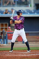 Charlotte Stone Crabs third baseman Kevin Padlo (11) at bat during a game against the Palm Beach Cardinals on April 21, 2018 at Charlotte Sports Park in Port Charlotte, Florida.  Charlotte defeated Palm Beach 5-2.  (Mike Janes/Four Seam Images)