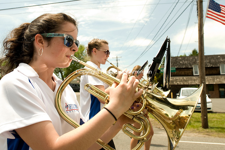 BETHLEHEM, CT-26 May 2014-052614EC03--  Amy Gilligan plays in the Nonnewaug High School band during the Memorial Day parade in Bethlehem Monday afternoon. Erin Covey Republican-American