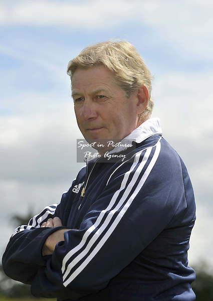 Nick Skelton OBE, age 58, based Warwickshire, with Beverley Widdowson's Big Star. TeamGB announce the equestrian team for the Rio2016 Olympics. The old bull pen. Chippenham. Wiltshire. UK. 05/07/2016. ~ MANDATORY CREDIT Garry Bowden/SIPPA - NO UNAUTHORISED USE - +447837 394578