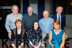 Seated L-R Katherine Mulligan, Paula Duggan with Nuala Sheehy, back L-R Shane Mulligan, Ger Daly, John O'Connor and Pat Daly at the Kerry Mountaineering Christmas party in the Meadowlands hotel, Tralee last Saturday night.