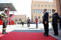 Angelino Alfano con il capo dipartimento dei Vigili del Fuoco Gioacchino Giomi<br /> Roma 23-07-2015 Scuole centrali antincendio di Capannelle. Giuramento di 620 Allievi Vigili del fuoco.<br /> Photo Samantha Zucchi Insidefoto