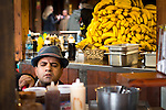 © Joel Goodman - 07973 332324 . 21 November 2013 . Manchester , UK . Plenty of bananas in stock at a pancake stall in Albert Square . Candid photos of the Christmas Markets in Manchester City Centre . Photo credit : Joel Goodman