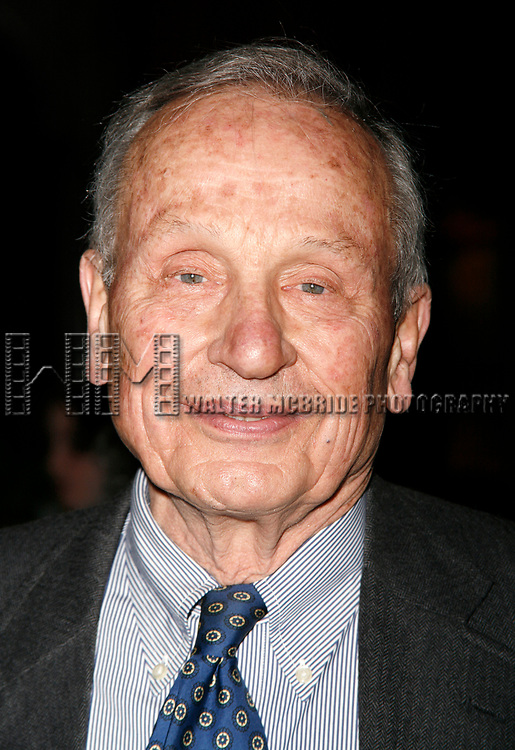 A.R. Gurney attending the Opening Night Party for the Primary Stages Premiere of Willy Holtzman's New Play SOMETHING YOU DID at National Arts Club in New York City.<br />