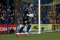 Jordan Archer of Millwall during AFC Wimbledon vs Millwall, Emirates FA Cup Football at the Cherry Red Records Stadium on 16th February 2019
