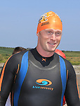 Neil KElly<br /> at the round the head swim in clogherhead.<br /> Picture:  www.newsfile.ie