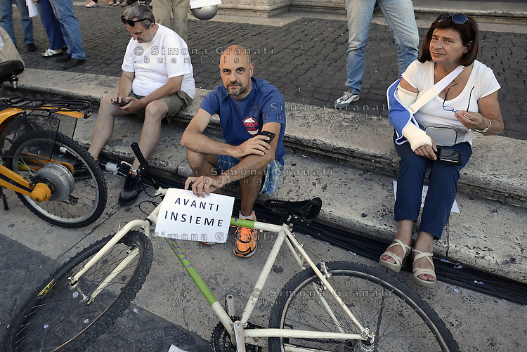 Roma, 26 Giugno 2015<br /> Piazza de Campidoglio<br /> Manifestazione in solidariet&agrave; con il Sindaco di Roma