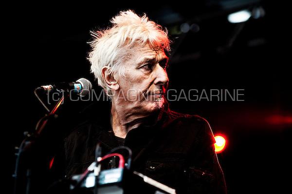 Velvet Underground legend and Welsh musician, composer, singer-songwriter John Cale in concert at the Mid-Zomer festival in Leuven (Belgium, 28/07/2011)