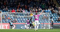 Andy Yiadom of Barnet scores his goal making it 1 1 during the Sky Bet League 2 match between Wycombe Wanderers and Barnet at Adams Park, High Wycombe, England on 16 April 2016. Photo by Andy Rowland.