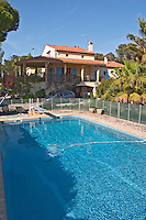 The swimming pool in the garden Clos des Iles Chambres d'Hotes Bed and Breakfast Le Brusc Six Fours Cote d'Azur Var France