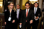 House Majority Whip Eric Cantor (R-VA), third from left, arrives for President Barack Obama's State of the Union address in the U.S. Capitol on Tuesday, January 24, 2012 in Washington, DC.