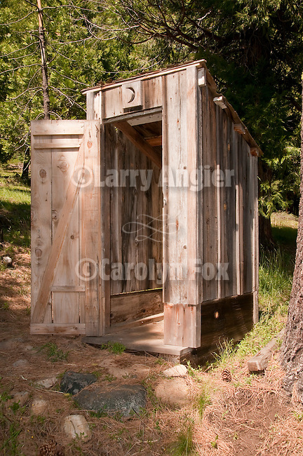 Outhouse at Cuneo Cow Camp at 6000 in a meadow in the Sierra Nevada of Calif.