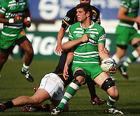 Manawatu lock Mike Fitzgerald looks for support during the Air NZ Cup preseason match between Manawatu Turbos and Wellington Lions at FMG Stadium, Palmerston North, New Zealand on Friday, 17 July 2009. Photo: Dave Lintott / lintottphoto.co.nz