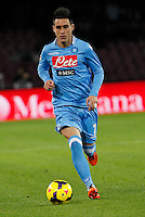 Jose Callejon in action during the Italian Serie A soccer match between SSC Napoli and Parma FC at San Paolo stadium in Naples