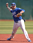 Western Nevada College's Rayne Raven makes a play against the College of Southern Nevada at John L. Harvey field, on Sunday, April 27, 2014, in Carson City, Nev.<br /> Photo by Cathleen Allison/Nevada Photo Source