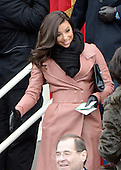 Eva Longoria arrives before United States President Barack Obama takes the oath of office during the public swearing-in ceremony at the U.S. Capitol in Washington, D.C. on Monday, January 21, 2013..Credit: Ron Sachs / CNP.(RESTRICTION: NO New York or New Jersey Newspapers or newspapers within a 75 mile radius of New York City)