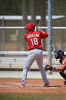 St. Louis Cardinals Stefan Trosclair (18) during a Minor League Spring Training game against the Houston Astros on March 27, 2018 at the Roger Dean Stadium Complex in Jupiter, Florida.  (Mike Janes/Four Seam Images)