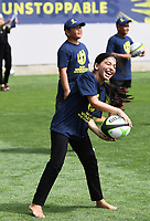 4th February 2020, Eden Park, Auckland, New Zealand;  Children participate in the skills and drills session.<br /> RWC 2021 New Zealand Kick-Off event at Eden Park, Auckland, New Zealand on Tuesday 4th February 2020.