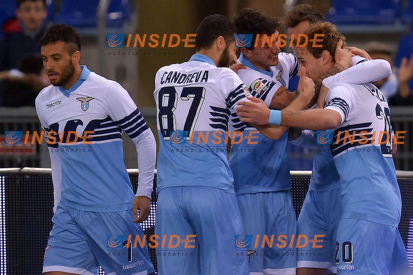 Esultanza Lucas Biglia Lazio dopo il gol Goal Celebration 1-0 <br /> Roma 09-03-2015 Stadio Olimpico Football Calcio Serie A Lazio - Fiorentina. Foto Andrea Staccioli / Insidefoto