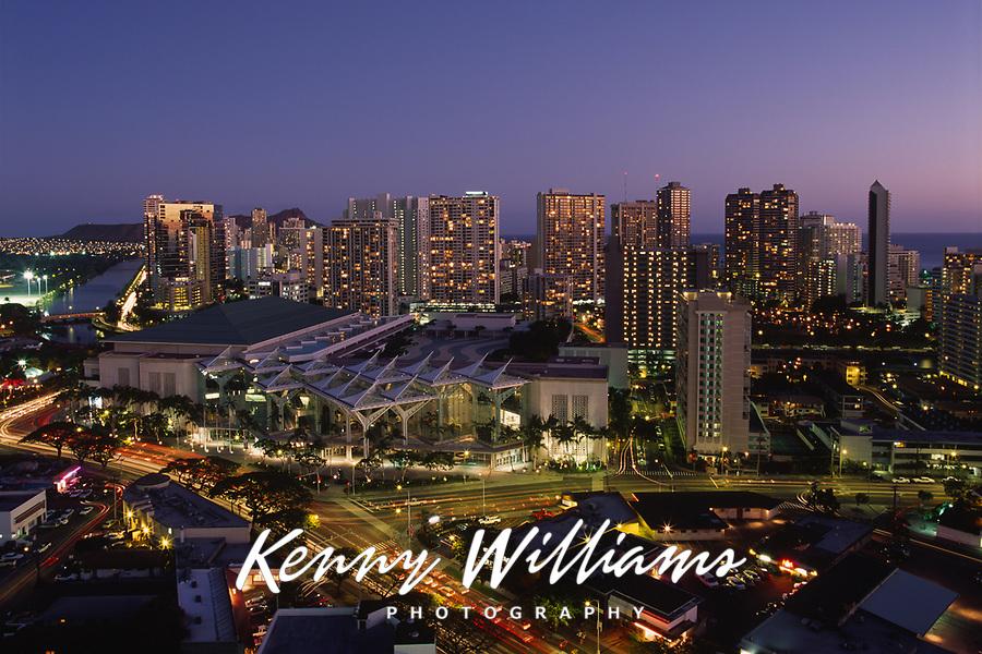 Convention Center, Waikiki, Honolulu, Oahu, Hawaii, USA.