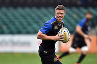 Rhys Priestland of Bath Rugby in possession. Bath Rugby Captain's Run on October 30, 2015 at the Recreation Ground in Bath, England. Photo by: Patrick Khachfe / Onside Images