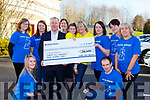 Sandra and Grace Broderick and staff from Fexco Killorglin who raised  €36,400 for Pieta House in memory of her late husband John presented them the cheque on Monday front l-r: Louise Murphy and Eamon O'Connor, back row: Virginia Costelloe, Sharon Healy, Con O'Connor Pieta House, Breda O'Sullivan, Briget Mulvihill, Caroline Flaherty and Geraldine O'Sullivan