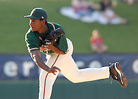 RHP Natividad Dilone (38) of the Greensboro Grasshoppers in a game against the Greenville Drive on June 14, 2010, at Fluor Field at the West End in Greenville, S.C. Photo by: Tom Priddy/Four Seam Images