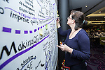 """BRUSSELS - BELGIUM - 24 November 2016 -- European Training Foundation (ETF) Conference on """"GETTING ORGANISED FOR BETTER QUALIFICATIONS"""". -- Illustrations by Carolina Chapple. -- PHOTO: Juha ROININEN / EUP-IMAGES"""