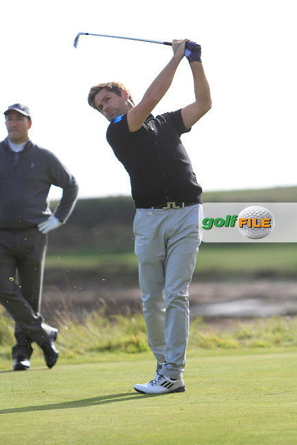Robert Rock (ENG) during Round 1of the Alfred Dunhill Links Championship at Kingsbarns Golf Club on Thursday 26th September 2013.<br /> Picture:  Thos Caffrey / www.golffile.ie