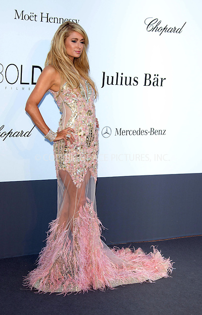 WWW.ACEPIXS.COM....US Sales Only....May 23 2013, New York City....Paris Hilton at amfAR's Cinema Against AIDS Gala at the Hotel du Cap Eden Roc during the Cannes Film Festival on May 23 2013 in France....By Line: Famous/ACE Pictures......ACE Pictures, Inc...tel: 646 769 0430..Email: info@acepixs.com..www.acepixs.com