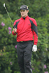 Justin Rose of England lines up his approach shot to the 72nd hole at the BMW PGA Championship on the 27th of May 2007 at the Wentworth Golf Club, Surrey, England. (Photo by Manus O'Reilly/NEWSFILE)