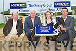 LAUNCH: Launching the Kerry Group County Champion Open 550 at the Kingdom Greyhound Stadium to start on the Friday 24th of September on Monday l-r: Sean Flaherty (Vice chairman track directors KGS), John O'Callaghan (Kerry AGRI Business), Maria Rohan (Kerry Group) and Declan Dowling (sales and operations managers KGS).