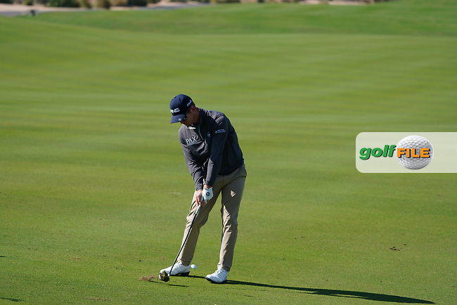 Brandon Stone (RSA) on the 1st during the Pro-Am of the Commercial Bank Qatar Masters 2020 at the Education City Golf Club, Doha, Qatar . 04/03/2020<br /> Picture: Golffile   Thos Caffrey<br /> <br /> <br /> All photo usage must carry mandatory copyright credit (© Golffile   Thos Caffrey)