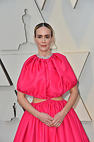 LOS ANGELES, CA. February 24, 2019: Sarah Paulson  at the 91st Academy Awards at the Dolby Theatre.<br /> Picture: Paul Smith/Featureflash