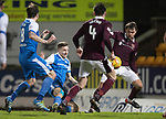 St Johnstone v Hearts&hellip;23.12.17&hellip;  McDiarmid Park&hellip;  SPFL<br />Steven MacLean misses a late chance to score<br />Picture by Graeme Hart. <br />Copyright Perthshire Picture Agency<br />Tel: 01738 623350  Mobile: 07990 594431