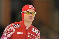 SCHAATSEN: BERLIJN: Sportforum, 06-12-2013, Essent ISU World Cup, Team Russia, 1500m Men Division A, Denis Yuskov, ©foto Martin de Jong