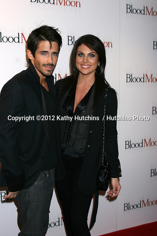 "LOS ANGELES - FEB 9:  Brandon Beemer, Nadia Bjorlin arrives at the ""Blood Moon"" Screening at Sony Pictures Studio on February 9, 2012 in Culver City, CA"