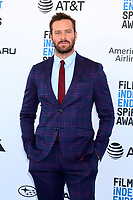 LOS ANGELES - FEB 23:  Armie Hammer at the 2019 Film Independent Spirit Awards on the Beach on February 23, 2019 in Santa Monica, CA